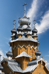 orthodox church made of logs