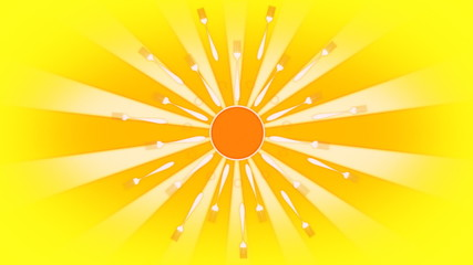Retro Forking Sun Looping Background