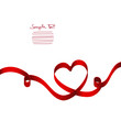 Red Ribbon Heart 2 Swirls