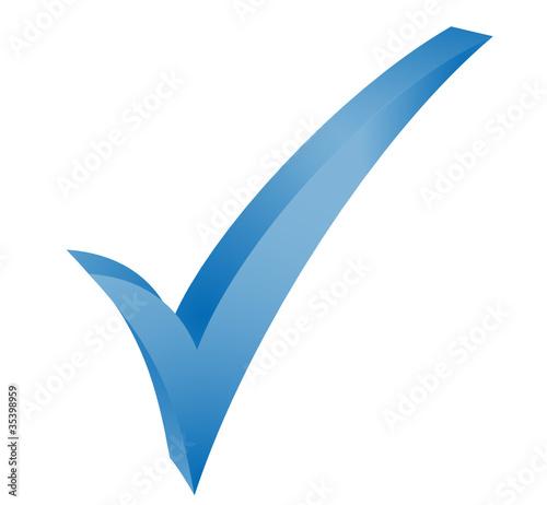 symbole validé bleu