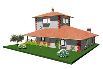 Casa Villa di Campagna-Country House-3D-2