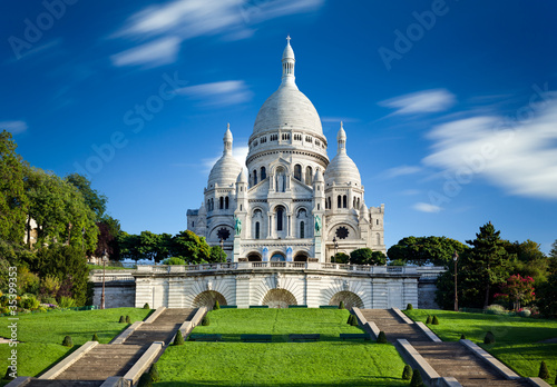 canvas print picture Basilique Sacré Coeur Montmartre Paris France