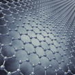 Graphene sheet model , 3d illustration