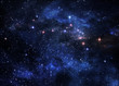 Leinwandbild Motiv Deep space nebulae