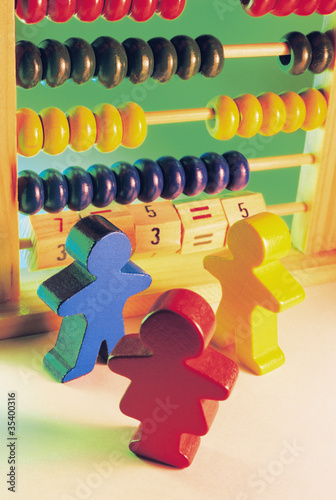 Wooden Figurines and Toy Abacus