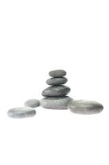 Masaje con piedras calientes.