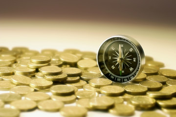 Compass on Coins