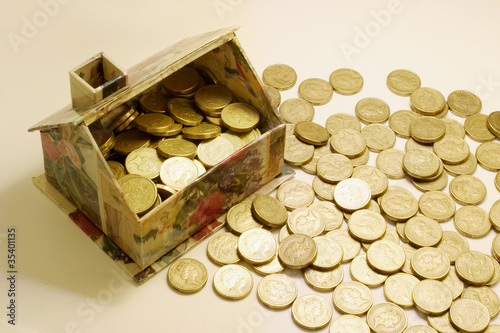 Toy House and Coins