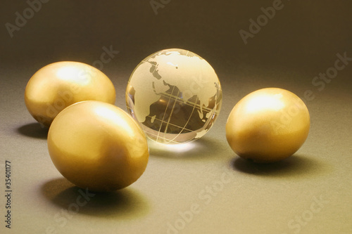 Golden Eggs and Crystal Globe