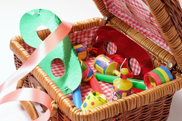 Party Items in Basket
