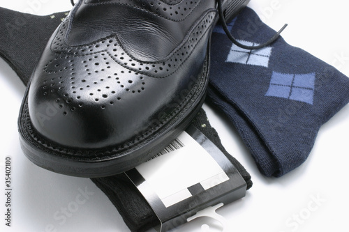 Man's Shoe and Socks