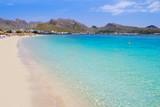 Fototapety Pollensa sand beach in Mediterranean Mallorca island