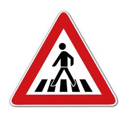 Fußgängerüberweg, Verkehrsschild