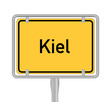 Ortsschild, Kiel