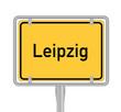 Leipzig , Ortsschild