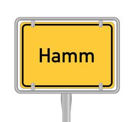 Hamm, Ortsschild