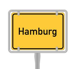 Ortsschild Hamburg