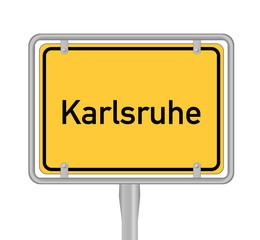 Karlsruhe, Ortsschild