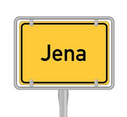 Jena, Ortsschild