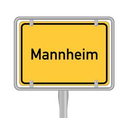 Mannheim, Ortsschild