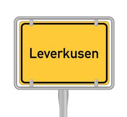 Ortsschild Leverkusen