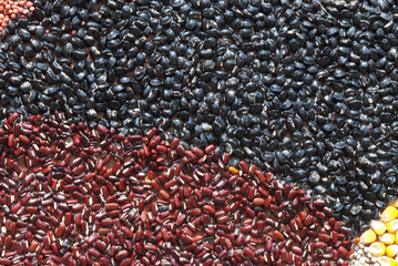Seeds and cereals background .