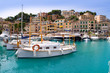 Puerto de Soller Port of Mallorca with lllaut boats