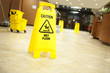 caution lobby mop bucket and sign - 35405785