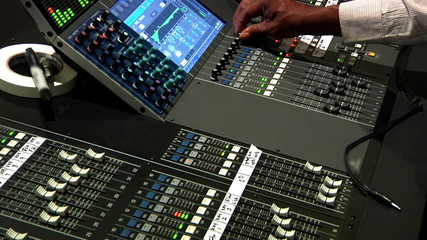 Audio Mixer Board Equipment