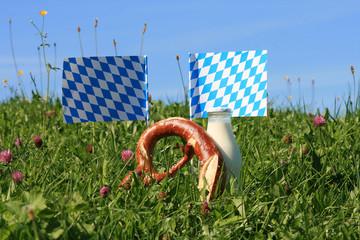 Gesundes Bayern - Oktoberfest mit Riesenbreze und Milch