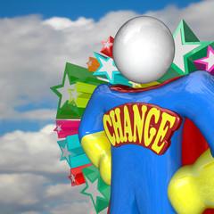 Change Superhero Looks to Future of Changing and Adapting