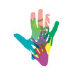 Logo Teamwork rainbow # Vector