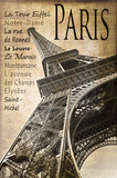 Fototapety Paris, la Tour Eiffel, vintage sépia
