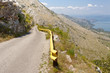 Narrow route in Montenegro