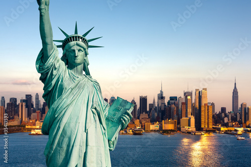 Leinwandbild Motiv New York statue de la Liberté