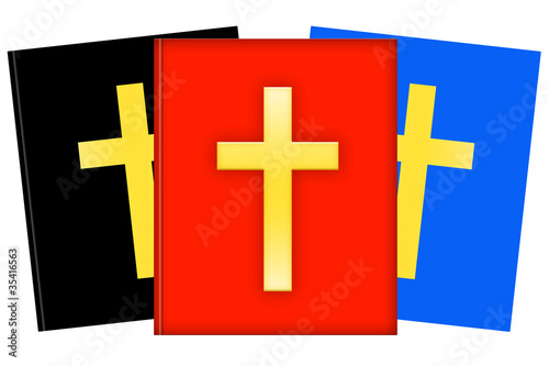 Christian books illustration isolated on white
