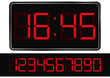 Vector red digital clock - 35417502