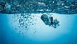 air bubbles underwater