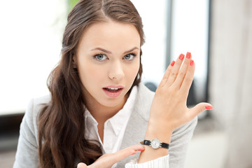businesswoman with watch
