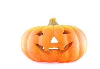 Calabaza de Halloween aislada sobre fondo blanco