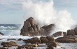 sea rock is breaking powerful wave