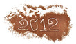 number 2012 written on coffee mill background
