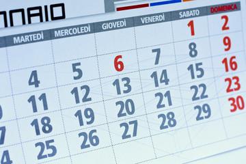 Giornate su calendario