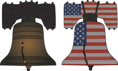 Liberty Bell from Philadelphia on white background