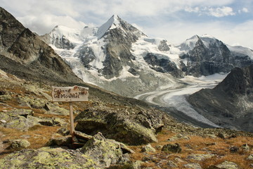 panoramic view of Zinal glacier