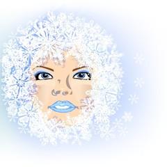 Schneeflocken | Gesicht | Eiskristalle