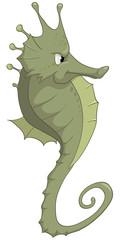 Cartoon Character Seahorse