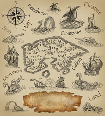 Pirate map