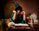 Witch with poison apple