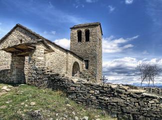 iglesia,rústica de la sierra de guara,huesca,palencia